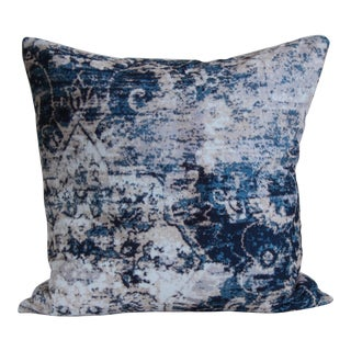 Turkish Distressed Blue Pillow Cover