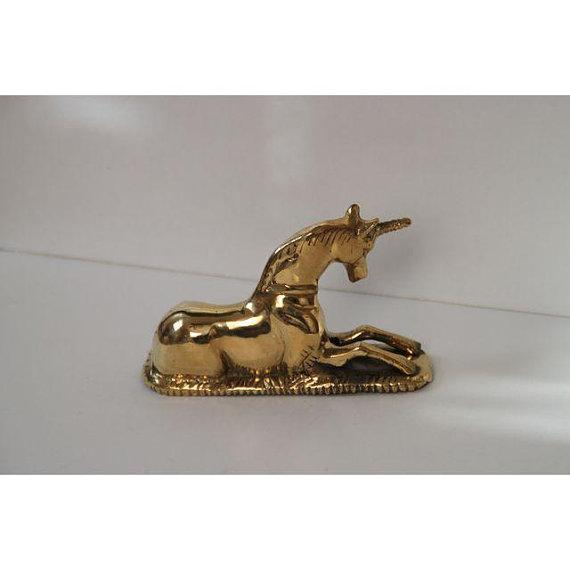 Image of Brass Unicorn Figurine