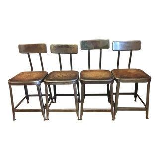 Industrial Factory Vintage Chairs - Set of 4