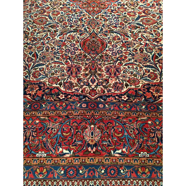 "Antique Persian Kashan Rug - 8'11"" X 11'7"" - Image 2 of 4"