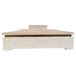 Maitland Smith Rectangular Pagoda Form Stone Box