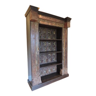 Antique Rustic Handcrafted Bookcase