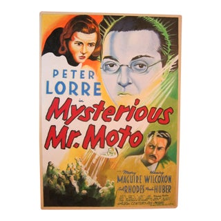Peter Lorre in Mysterious Mr. Moto Painting