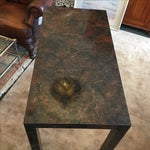 Image of Contemporary Burl Wood Table