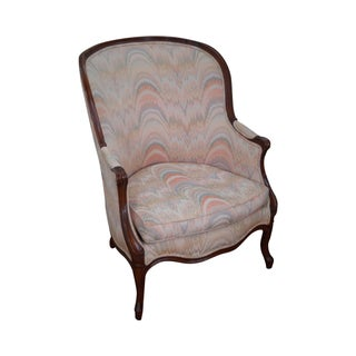 Large 1920s French Louis XV Style Bergere Chair
