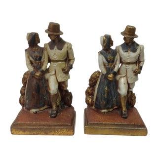 1925 Clad Byron Bristol Pilgrim Bookends - Pair