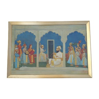 Indian Framed Folk Art Painting