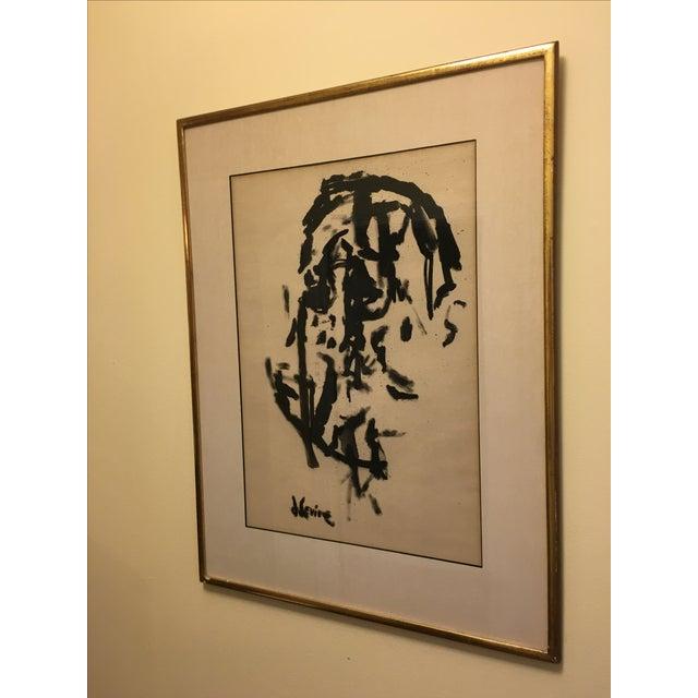 Jack Levine Cubist Ink Painting - Image 4 of 5