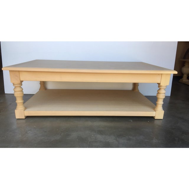 Pine Coffee Table With Turned Legs: Alder Wood Coffee Table