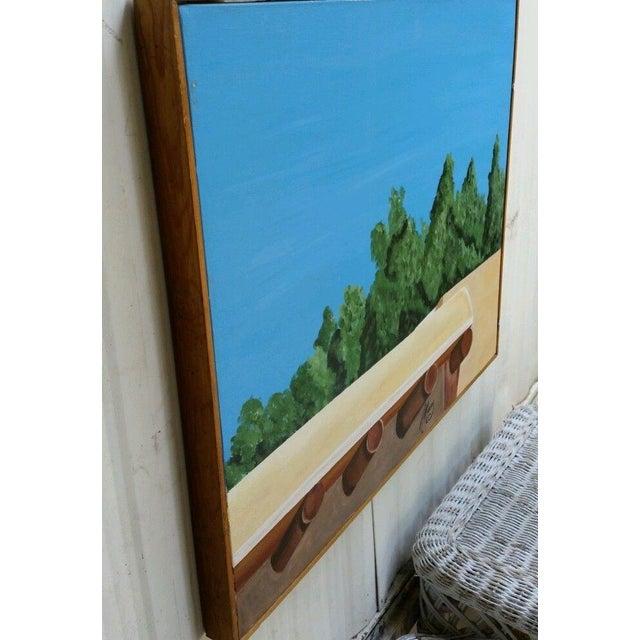 Santa Fe Skyline Signed Original Acrylic Canvas - Image 5 of 6