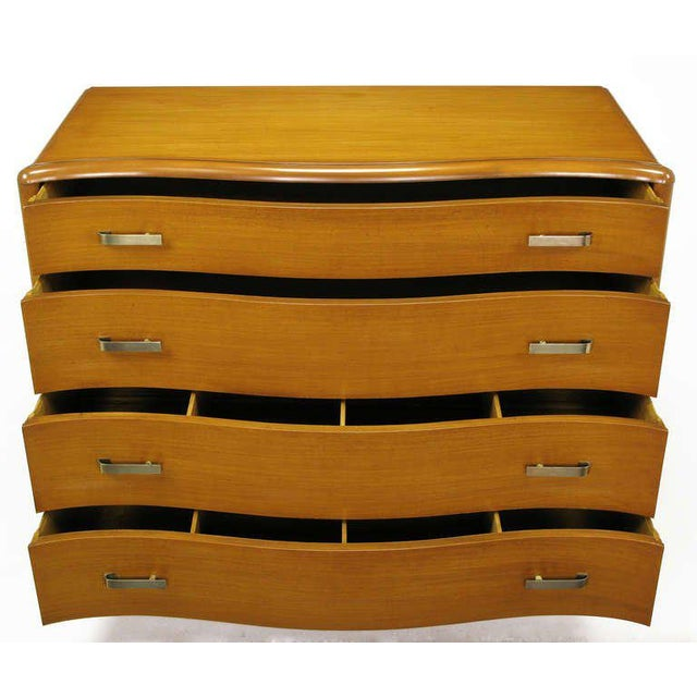Excellent Art Deco Four Drawer Bleached Mahogany