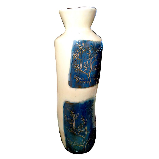 Image of Tall Vintage Modern Ceramic Floor Vase