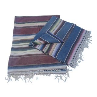 Mexican Serape Throws - A Pair