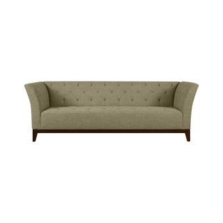 Sage Colored Tufted Sofa