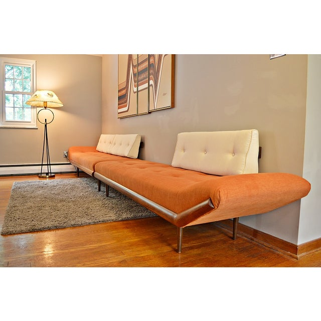 Mid-Century Three-Piece Sectional Sofa - Image 4 of 10