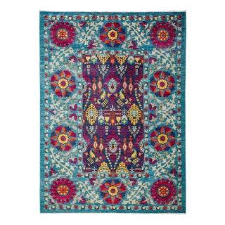 "Suzani Hand Knotted Area Rug - 6' 1"" X 8' 4"""