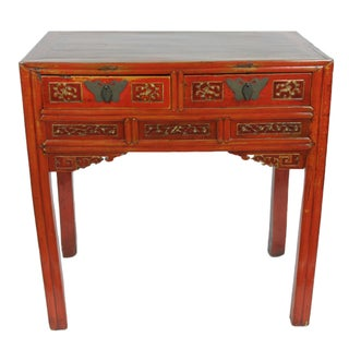 Antique Chinese Hand-Carved Desk