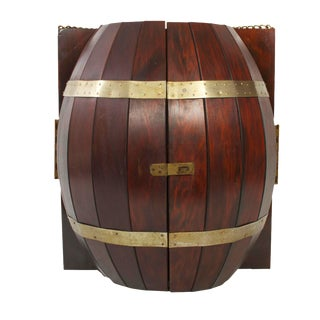 Whisky Barrel Liquor Cabinet