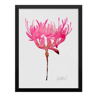 Magenta Botanical Watercolor Print