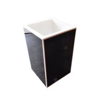 Black Lacquered Acrylic Planter