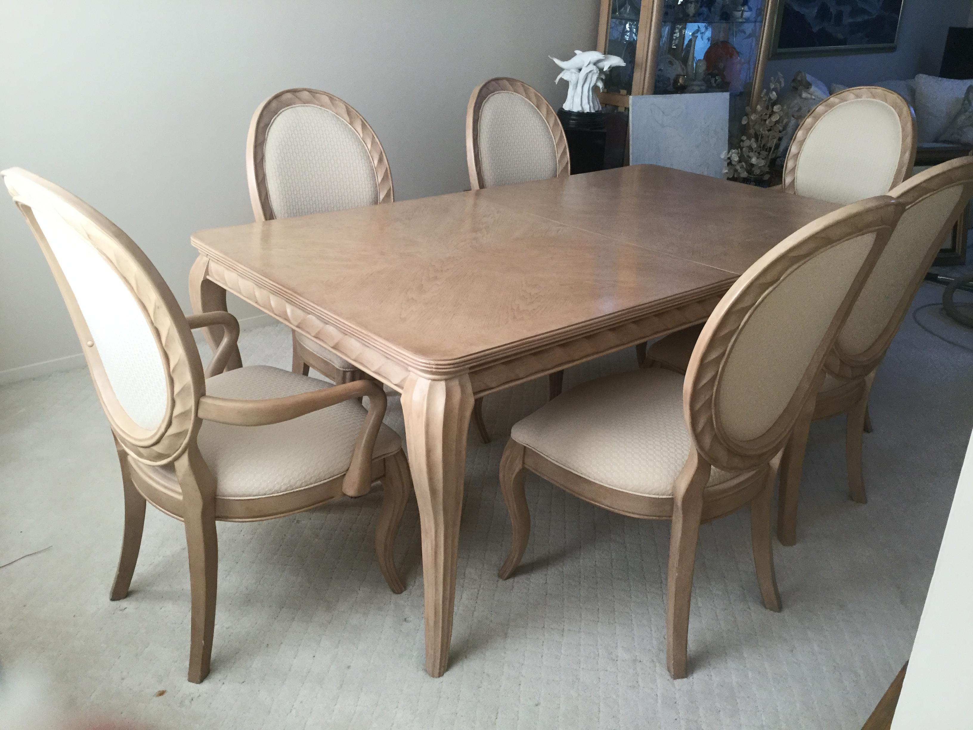 Bernhardt Tuscan Traditional Mediterranean Dining Room Set   Table 6 Chairs    Image 2 Of 10