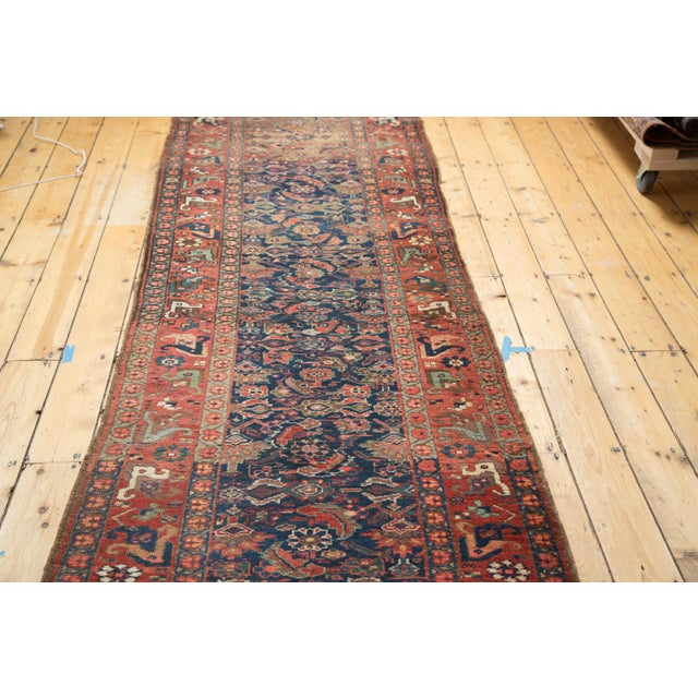 "Antique Kurdish Bidjar Rug Runner - 3'7"" X 13'10"" - Image 5 of 7"