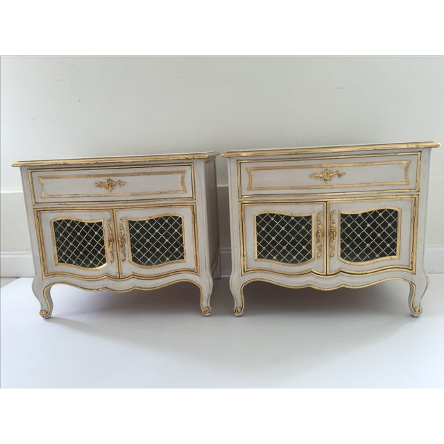 Image of Painted Henredon French Cabinets - Pair