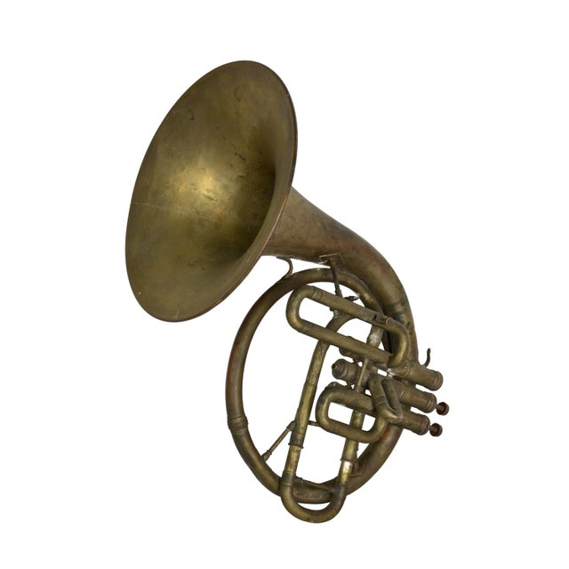 Antique French Horn - Image 2 of 3