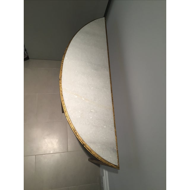 Image of Marble & Gold Half-Circle Console