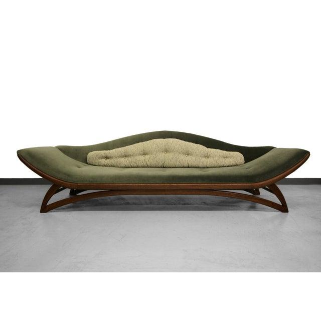 Mid Century Gondola Sofa: Mid-Century Gondola Style Sofa
