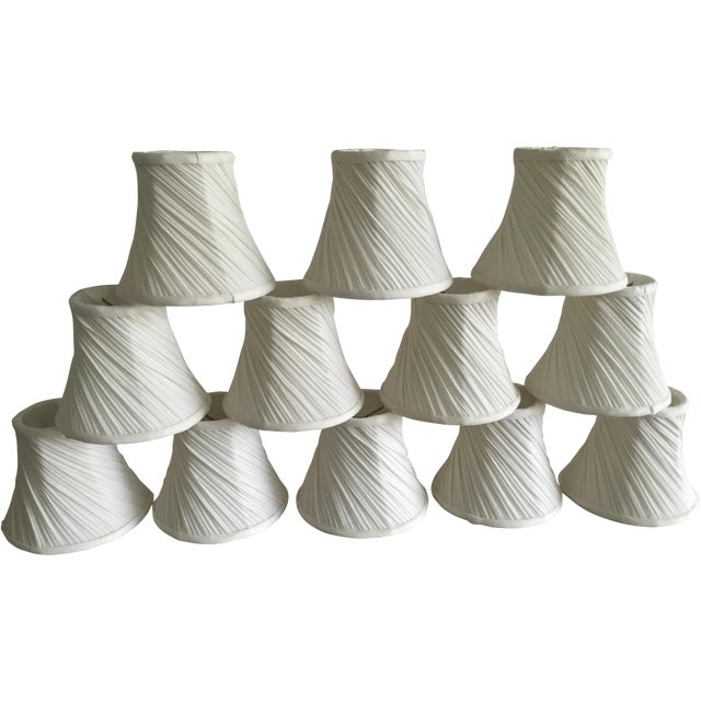 Off White Chandelier Shades - Set of 12 - Image 1 of 3