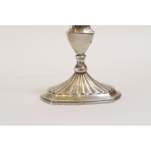 Small Silver Candlestick Holder - Image 3 of 5