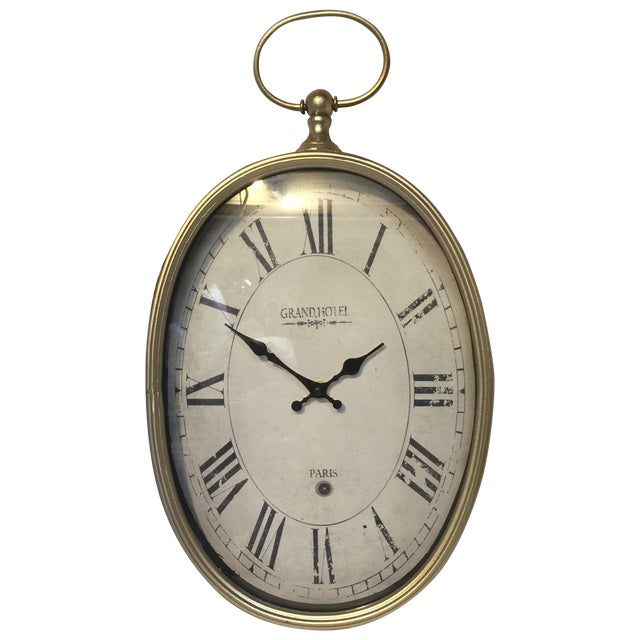 Old Style Paris Wall Clock - Image 1 of 8