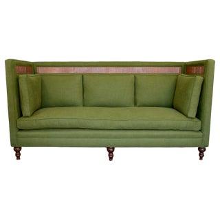 Green Linen & Rattan Greene St Sofa
