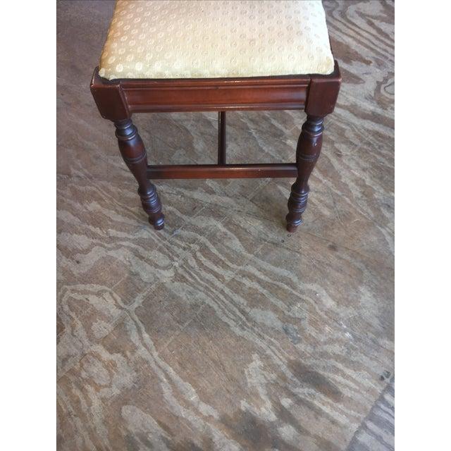 Antique Bedroom Vanity Bench - Image 3 of 9