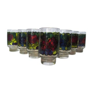 Stained Glass Design Fruit Tumblers - Set of 7