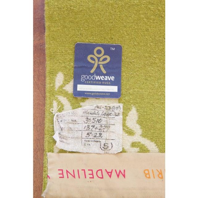 """Image of Madeline Weinrib Green """"Mandala"""" Rug - 6' x 9'"""