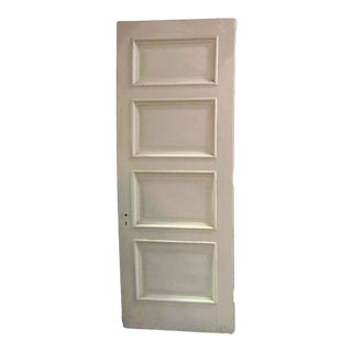 White Four Panel Cypress Door