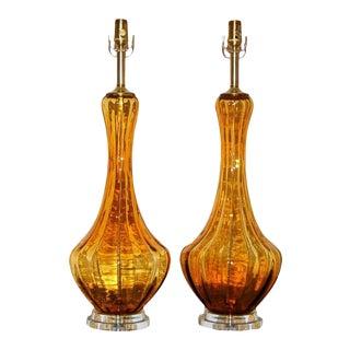 Butterscotch Vintage Murano Lamps