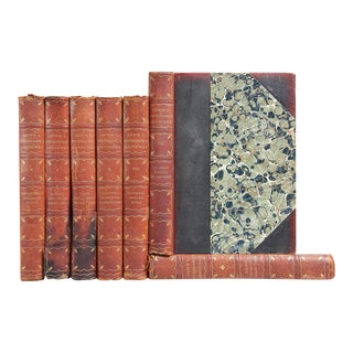 Antique Stoddard's Lectures Distressed Leather Volumes- Set of 7