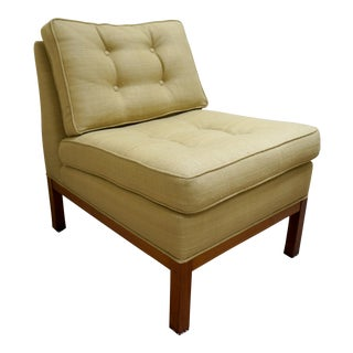 Vintage 1960's Edward Wormley Style Slipper Chair
