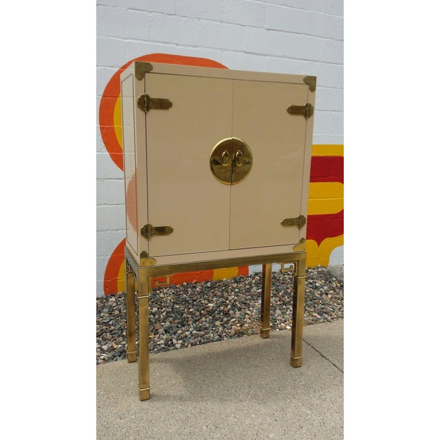 Mastercraft Brass and Lacquered Bar Cabinet - Image 2 of 6