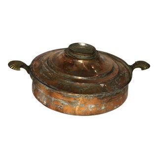 Shell Handled Copper Pot & Lid