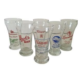 Vintage Pilsner Glasses - Set of 6