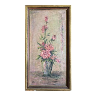 Original Vintage Floral Still Life Painting