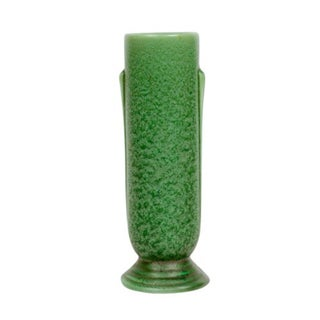 Art Deco Green Pottery Vase
