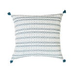 "Image of Handwoven Teal Mexican Pillow - 20"" x 20"""
