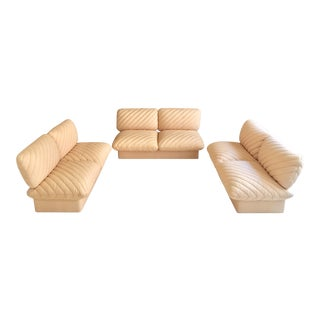 "Rare 1978 Harvey Probber ""Pillow Puff"" 3-Piece Sofa Set"