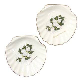 English Lord Nelson Souvenir Shell Dishes, A Pair