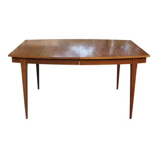 Mid-Century Danish Modern Walnut Surfboard Dining Table